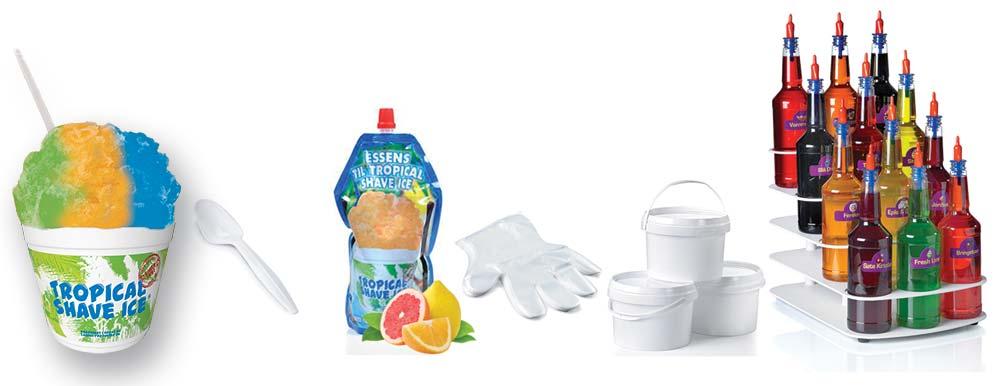 Startpakke tropical shave ice